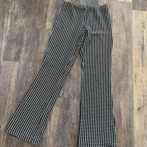 Tight flare houndstooth pants